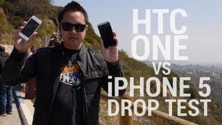 HTC One vs iPhone 5 Drop Test!