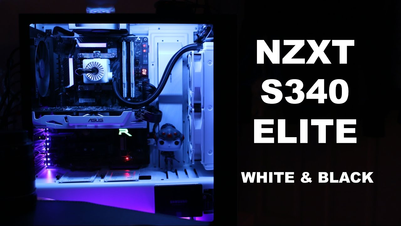 My First Computer Build Black And White Build Updated Nzxt S340
