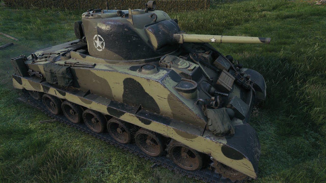 WoT M4A2E4 Sherman American tier 5 premium medium tank