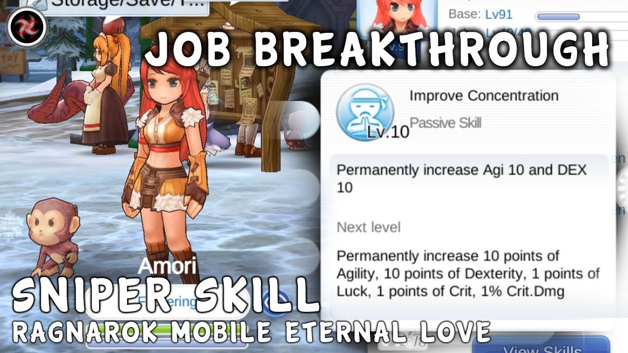Ragnarok Mobile Eternal Love Job Breakthrough Sniper Skill Preview