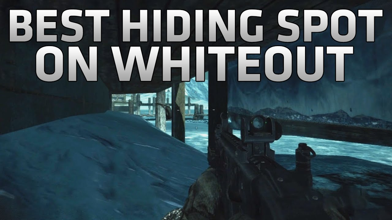 Cod Ghosts Best Hiding Spot On Whiteout Under The Map Glitch