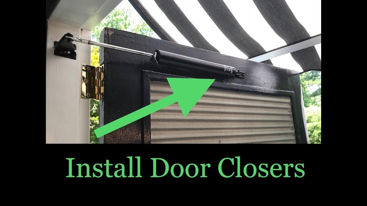 Storm Door Closer Installation Youtube