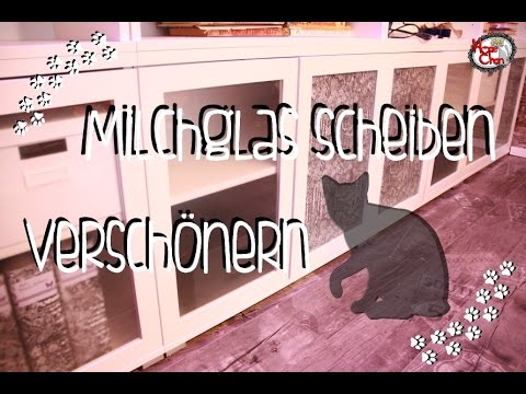diy schrank versch nern milchglasscheiben dekorieren youtube. Black Bedroom Furniture Sets. Home Design Ideas