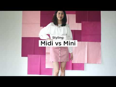 MIDI VS MINI SKIRT STYLING TIPS