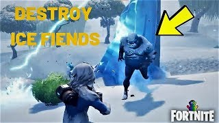 Fortnite - Destroy Ice Fiends Challenge Game Guide - Ice Storm Challenges Season 7