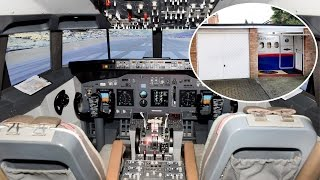 Pilot Has Flight Simulator Installed In Garage