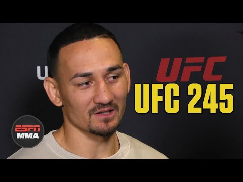 Max Holloway excited to solve Alex Volkanovski | UFC 245 | ESPN MMA