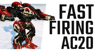 Fast firing AC20 on the Champion CHP-1N2 - Mechwarrior Online The Daily Dose #664