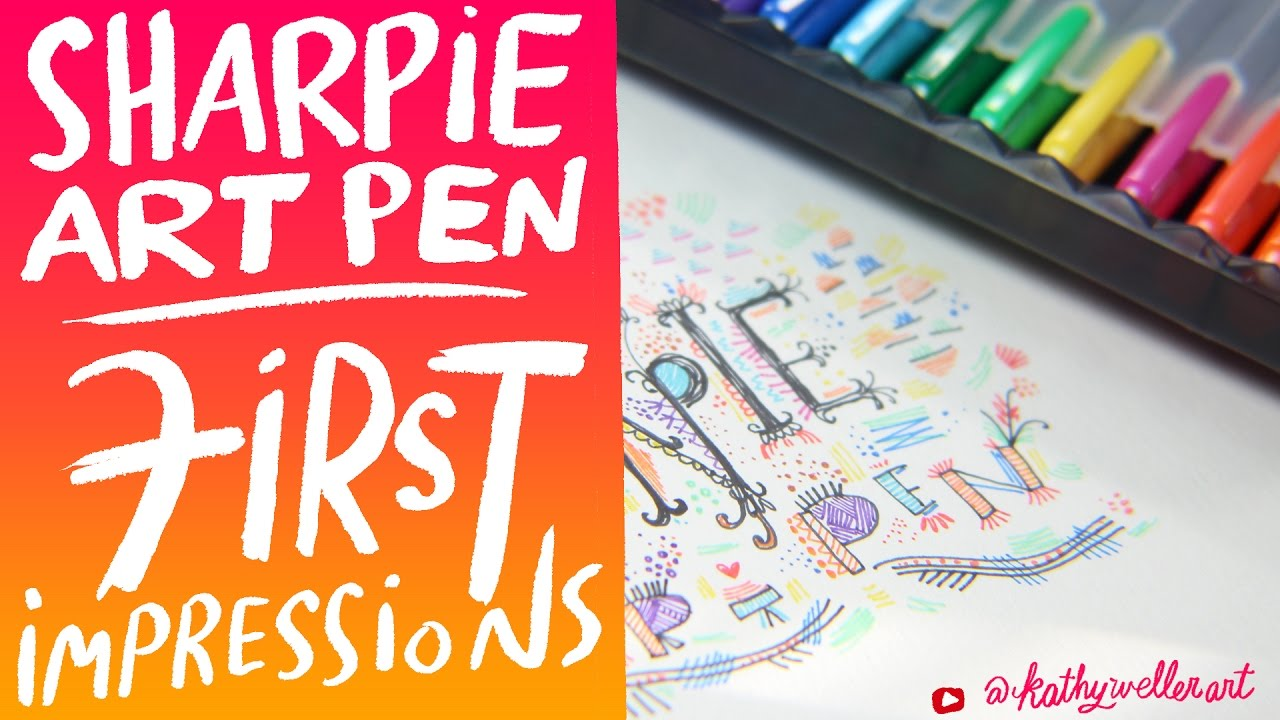 first impressions sharpie art pen vs sharpie pen and lefty art
