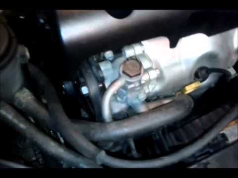 part 1: 2009 hyundai accent a/c, alternator and power steering belt  replacement - youtube