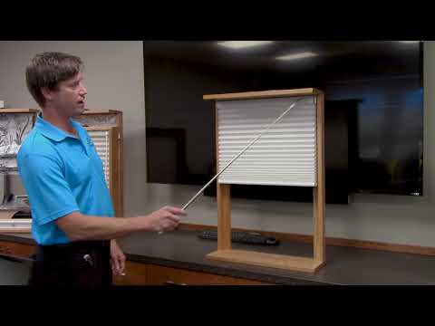 Simplicity Wave Motorized Cellular Shade for High and Hard to Reach Windows by Comfortex