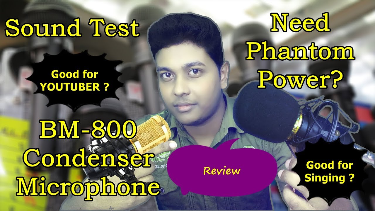 BM 800 Microphone Test Without Phantom Power in Hindi