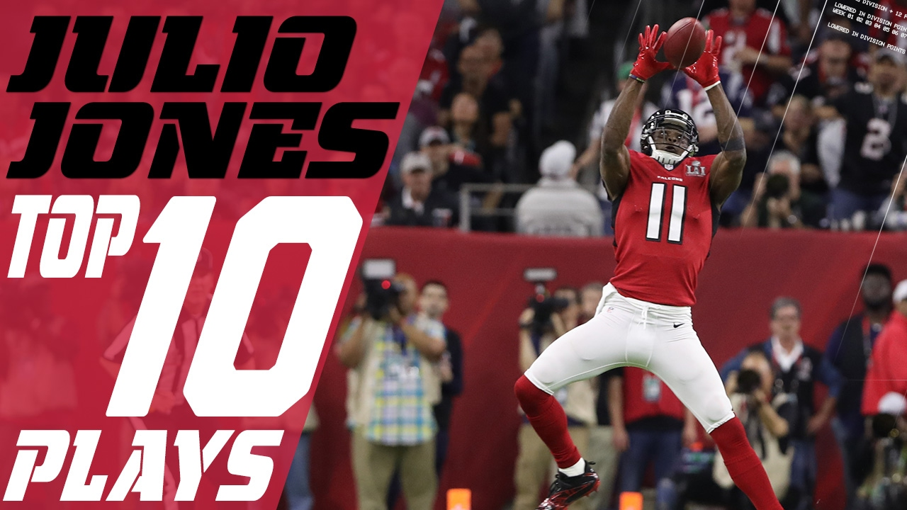 Julio Jones Top 10 Plays Of The 2016 Season Atlanta Falcons Nfl Highlights Youtube