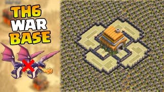 Clash Of Clans BEST TH6 Town Hall 6 WAR BASE With Air Sweeper   CoC TH6 Defense Base
