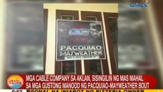 UB: Cable firms sa Aklan, sisingil ng mahal para sa Pacquiao-Mayweather fight