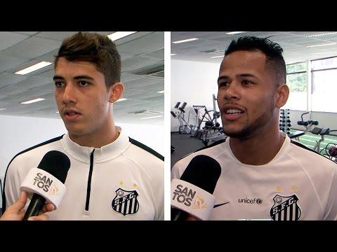 Geuvânio e Gustavo Henrique falam sobre a próxima fase da Copa do Brasil
