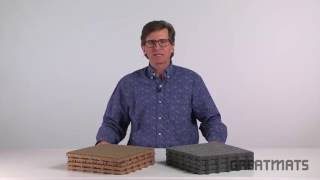 Basement Flooring - Raised Snap Together Carpet Tiles