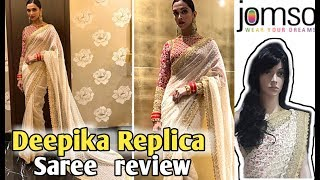 I bought Deepika padukone's replica saree | Jomso saree review| Replica saree | jomso saree