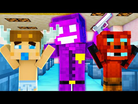 Minecraft School : FIVE NIGHTS AT FREDDY'S - BABY MEETS PURPLE GUY?! Night 11