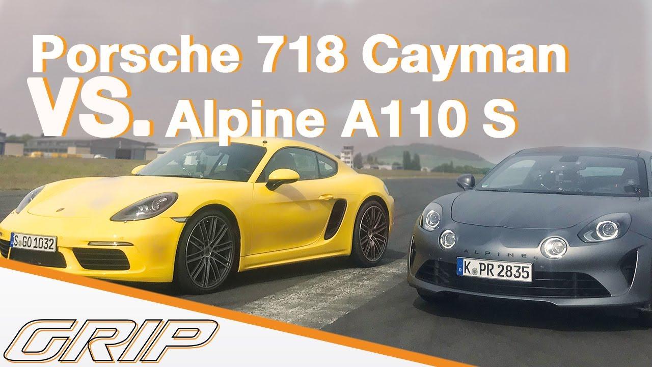 Alpine A110 S vs. Porsche 718 Cayman I Mit Matthias und Niki I GRIP