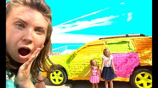 Nastya and Eva pretend play with Mom. Funny Kids Stories from Baby Time kids channel.