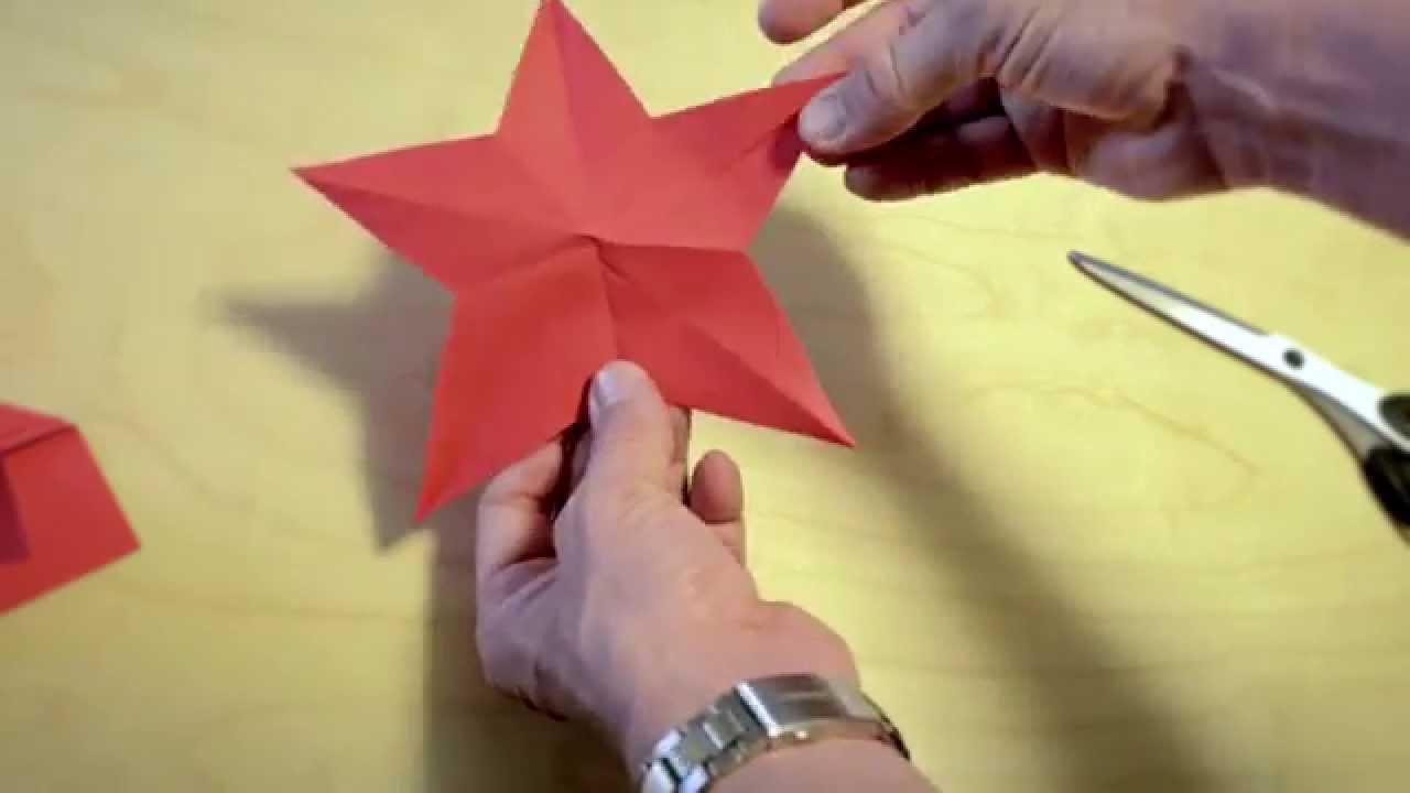 Einen Stern ausschneiden mit einem Schnitt - Svens Lifehacks ...