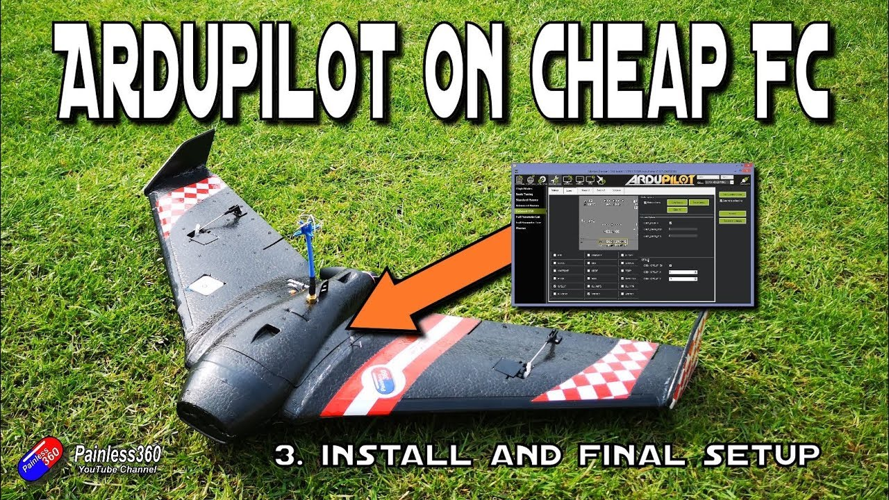Easy Ardupilot on Omnibus Series: 3  Installing into the wing and final  setup before maiden