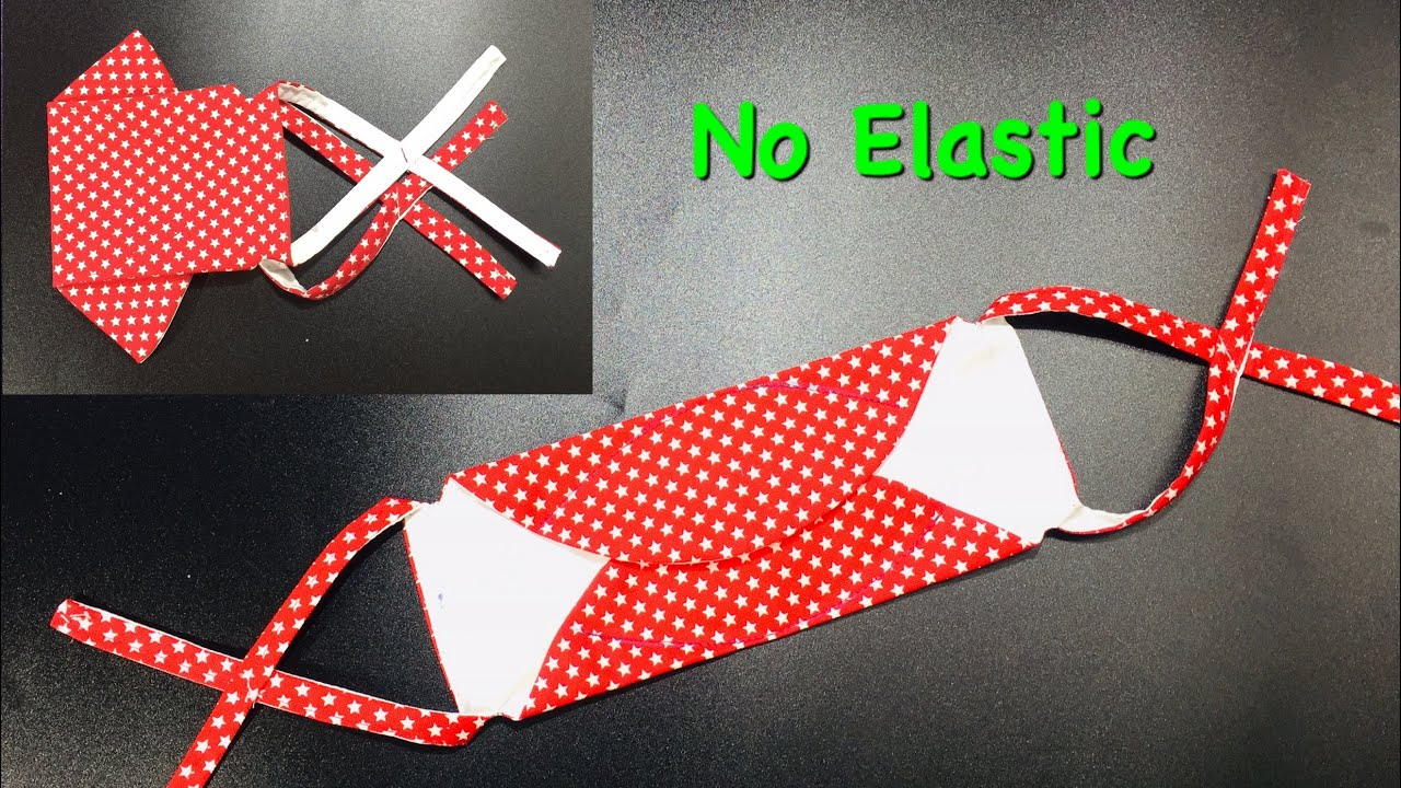 🔥NEW!! CONVENIENT mask pattern - NO ELASTIC band - no fog on glasses - use 2 sided - sewing simple