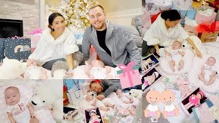 TWINS FIRST CHRISTMAS! CHRISTMAS DAY OPENING PRESENTS!👼🏻👼🏻🎄 -SLMissGlamVlogs💕
