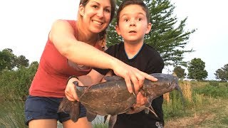 🐟 Catching Catfish, Bass & Bluegill | Fishing with Worms | Part I