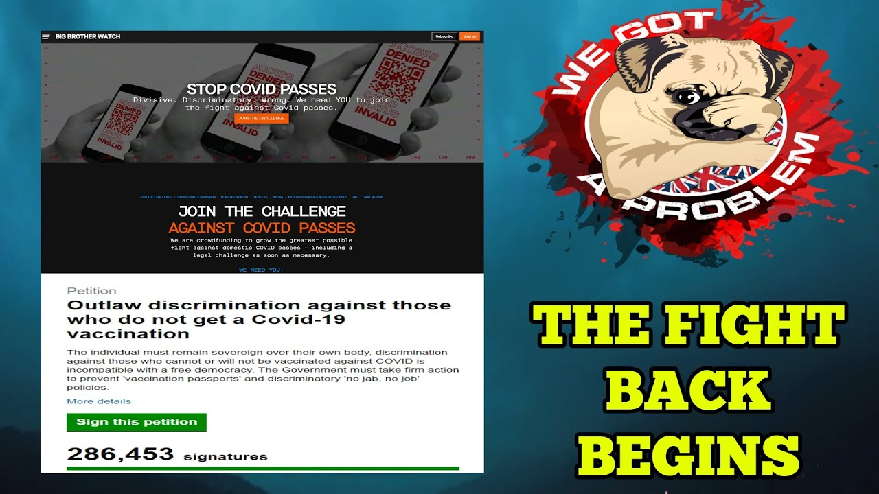 Big Brother Watch Prepare Legal Challenges Against Jab Passports As 280k Sign Petition