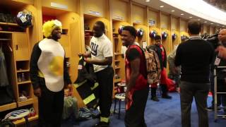 NY Giants rookies put on Halloween costumes for charity