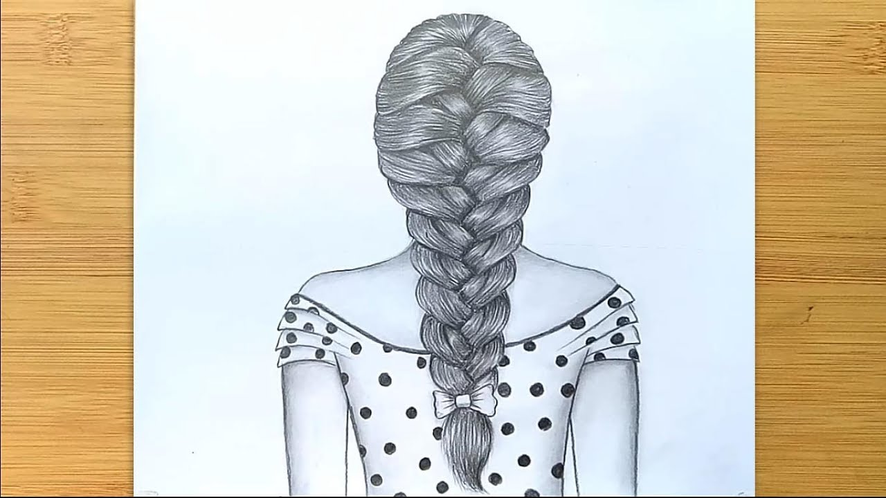 How To Draw Braids Easy Way To Draw Hair Step By Step Youtube