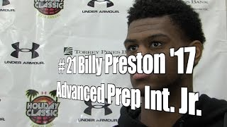 Billy Preston '17, Advanced Prep Int. Junior at 2015 UA Holiday Classic