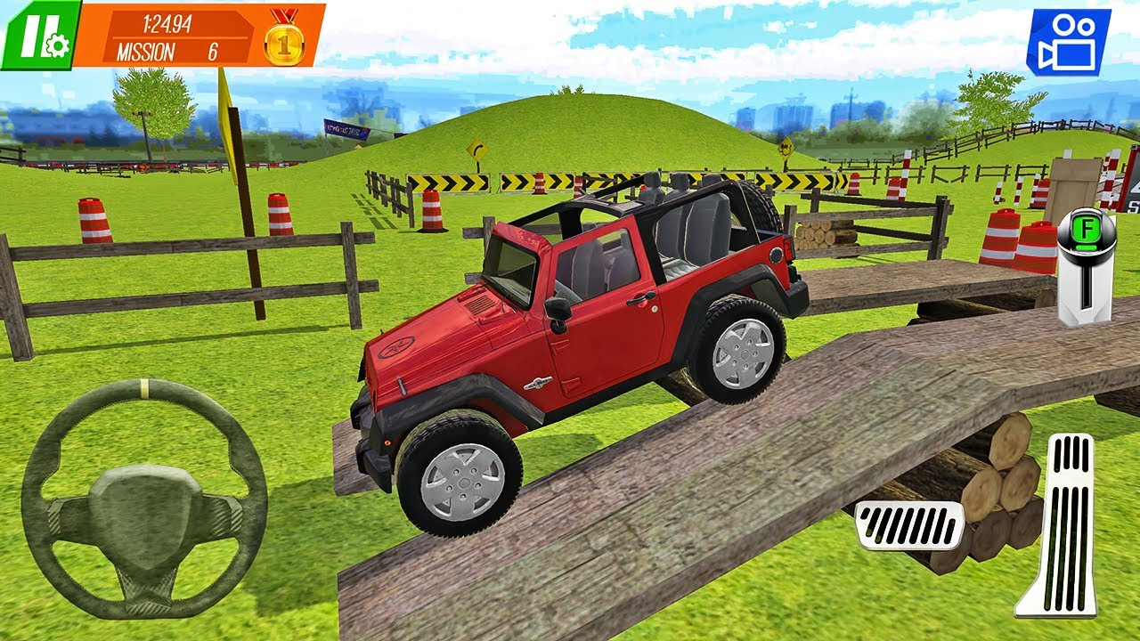 Jeep Wrangler Rubicon Driving - Car Trials Crash Driver - Android Gameplay
