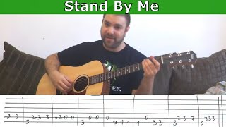 Fingerstyle Tutorial: Stand By Me - w/ TAB (Guitar Lesson)