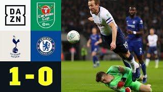 Harry Kane wird gelegt - Vorteil Spurs: Tottenham - FC Chelsea 1:0 | Carabao Cup | DAZN Highlights