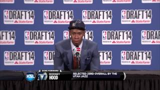 Rodney hood tears up during press conference
