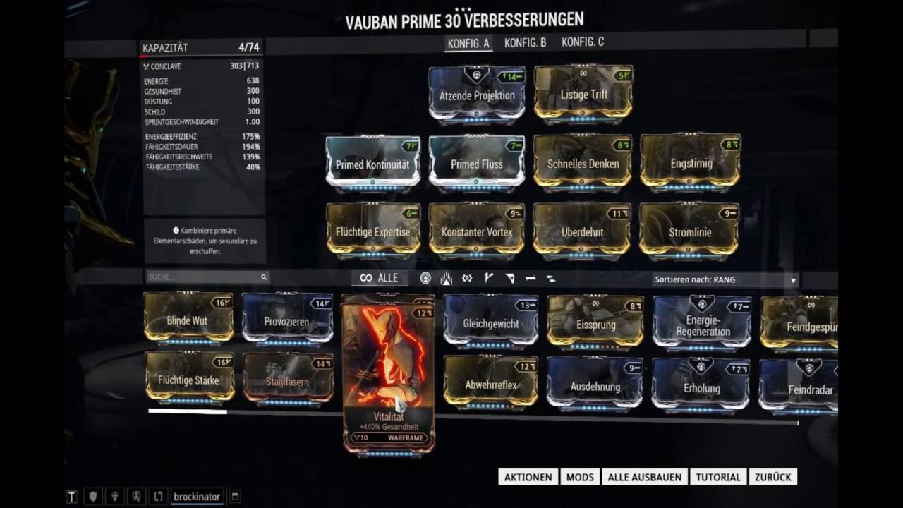 Warframe Vauban Vortex Build