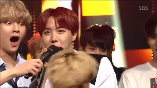 BTS BEING SAVAGE#JIMIN FELL [INKIGAYO WIN]