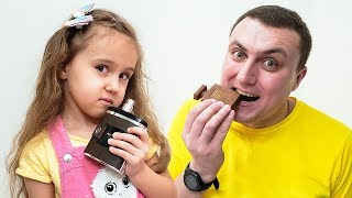 Милана и папа - история для детей про вредные сладости и конфеты