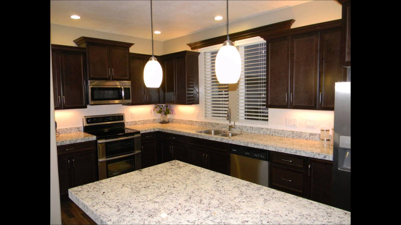 Dark Espresso Kitchen Cabinets Black Granite White Sand Granite Youtube