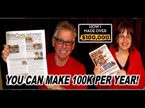 Earn $100K PRINTING NEWSPAPERS from Home!  TurnKey Home Business