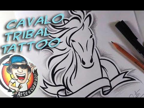 Como Desenhar Cavalo Tribal Estilo Tattoo Passo A Passo 494