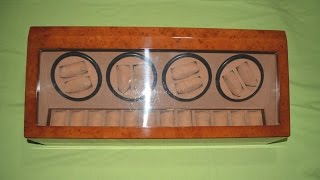 Sold :)   Wood 8 + 12 Automatic Watch Winder Display Case Box