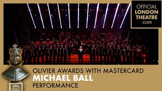 Michael Ball performs Love Changes Everything at the Olivier Awards 2013