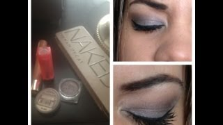 Light purple smokey eye with naked 2 and loreal infallible shadow liquid diamond Thumbnail
