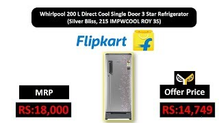 Whirlpool 200 L Direct Cool Single Door 3 Star Refrigerator  (Silver Bliss, 215 IMPWCOOL ROY 3S)