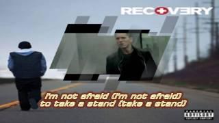eminem not afraid with lyrics
