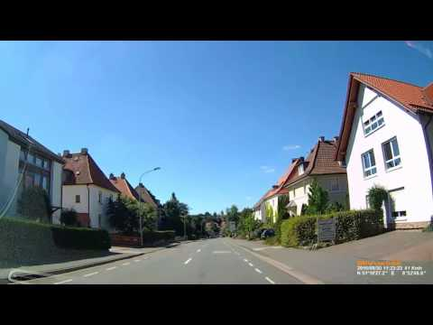 D: Hansestadt Korbach. Landkreis Waldeck-Frankenberg. Ortsdurchfahrt. August 2016